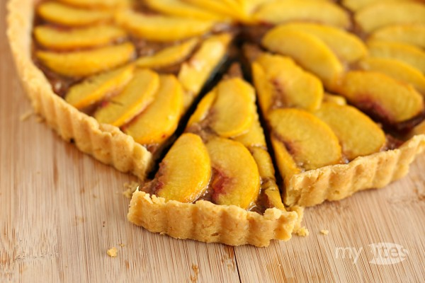 Almond Toffee and Peach Tart