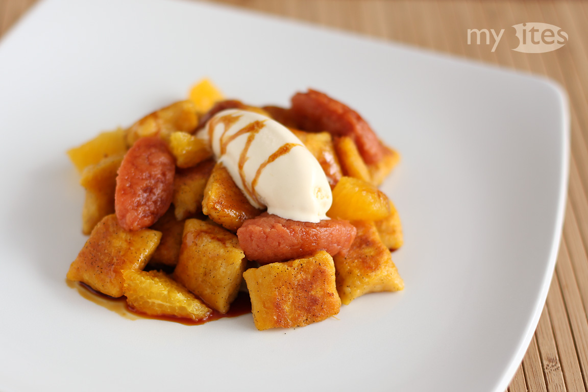 Sweet Potato Gnocchi with Cinnamon Ice Cream