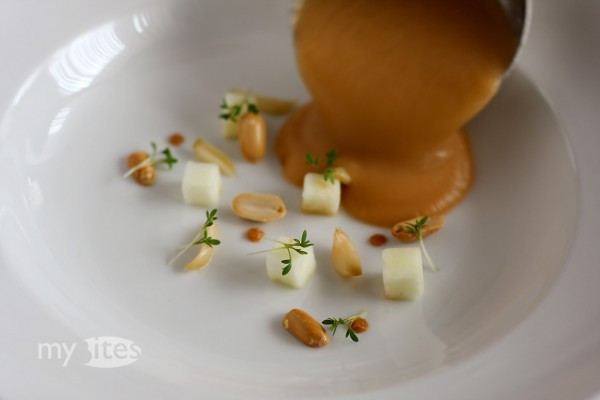 Rutabaga Soup with Apple, Peanuts and Garlic