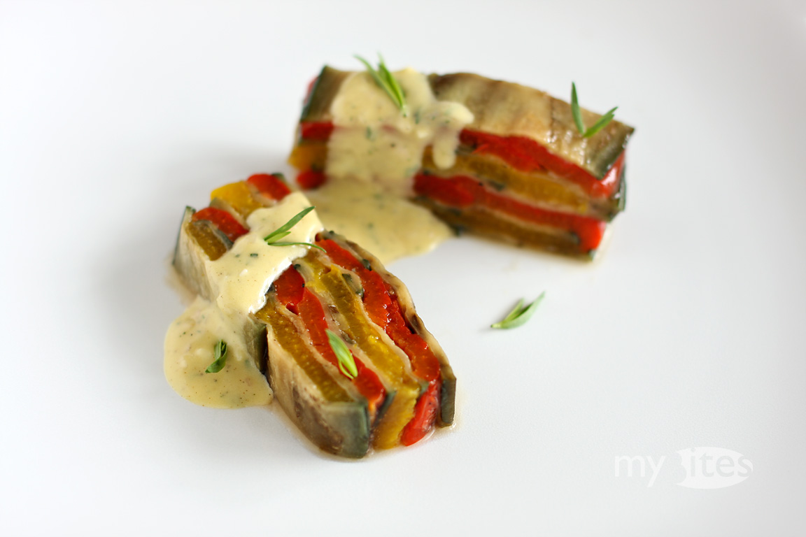 Bell Pepper and Eggplant Terrine